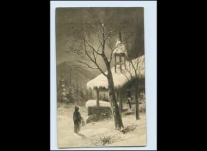 Y182/ Neujahr Kirche Rembrandt-Garvüre Nr. 5078 AK 1914
