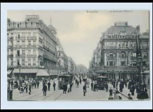 Y1019/ Bruxelles Brüssel Straßenbahn AK ca.1910