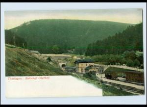 N3164-985./ Oberhof Thüringen Bahnhof AK ca.1900