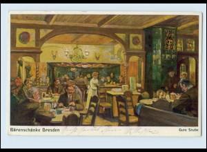 N497-01./ Dresden Bärenschänke Gute Stube Künstler AK 1915