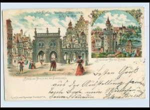 Y374/ Berlin Gewerbe-Ausstellung 1896 Litho AK