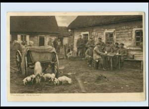 Y360/ Polnische Wirtschaft 1. Weltkrieg AK 1916 Soldatenleben im Felde