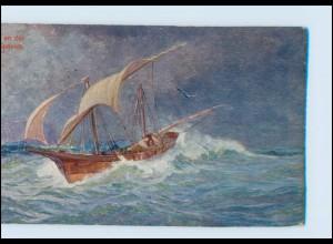 Y241/ Piratenschiff an der Küste Spaniens Künstler A. Kircher AK 1907