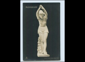 N687/ Skulptur Plongeuse Atelier Gebr. Micheli, Berlin 1906 Foto AK