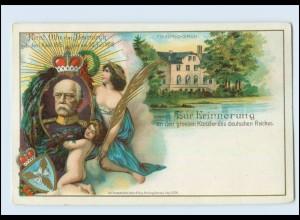 Y363/ Bismarck Friedrichsruh Zur Erinnerung - Litho AK 1898