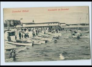 N638-174./ Seebad Ahlbeck Heringsdorf Usedom Herrenbad AK 1917