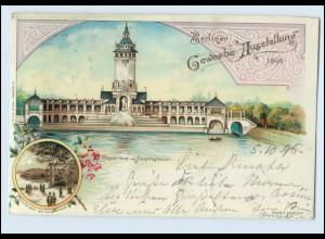 N661/ Berlin Gewerbe Ausstellung 1896 Litho AK