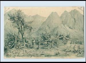 Y414/ Gruß aus dem Werdenfelser Landl b. Garmisch-Partenkirchen AK 1898