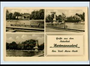 N844-092./ Hartmannsorf Naturbad Badeanstalt Foto Ak 1965
