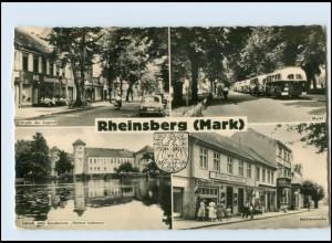 N822-168./ Rheinsberg (Mark) Mühlenstr., Omnibus Foto AK 1964