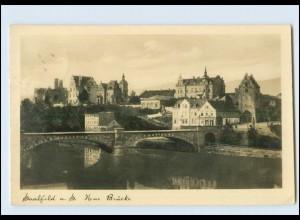 N792-073./ Saalfeld a. S. Neue Brücke Foto AK 1937