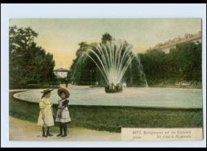 Y434/ Metz Springbrunnen AK Lothringen 1906