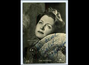 N2703/ Olga Tschechowa Autogramm schöne Ross AK 14,5 x 10,5 cm