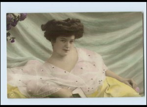 Y488/ Hübsche junge Frau Erotik NPG Foto AK ca.1910