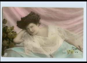 Y489/ Hübsche junge Frau Erotik NPG Foto AK ca.1910
