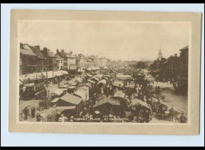 N1270/ Great Yarmouth in Großbritannien Market Place Marktplatz AK 1924