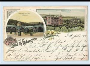 N1225-3590/ Gruß aus Bad Wildungen Litho AK 1902