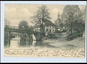 N1336-994./ Bad Berka an der Ilm An der Klosterbrücke Restauration AK 1903
