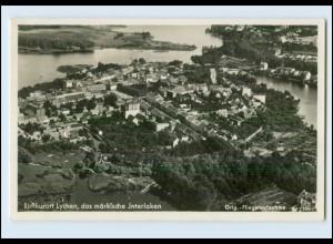 N1353-172./ Luftkurort Lychen märkisches Interlaken Fliegeraufnahme Foto AK 1939