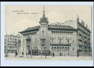 N1332/ Barcelona in Spanien Spain España Rambla de Cataluña Casa Serra AK 1908