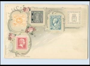 N1254/ Briefmarken Litho AK Verlag: Emil Enke, ca.1900