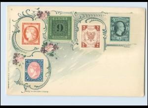 N1255/ Briefmarken Litho AK Verlag: Emil Enke, ca.1900