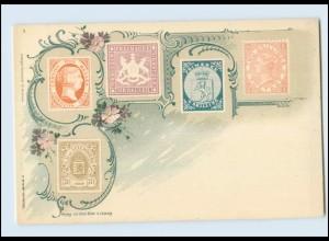 N1256/ Briefmarken Litho AK Verlag: Emil Enke, ca.1900