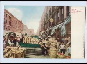 N1263/ Chicago South Water Street AK USA ca.1912