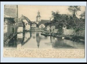 N1337-994./ Bad Berka an der Ilm Am Mühlgraben Kirche AK 1904