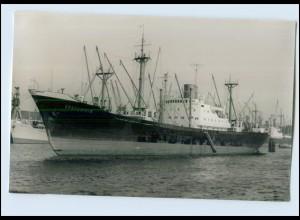 DP120/ Frachter Spreestein im Hafen Schiff Foto AK ca. 1950