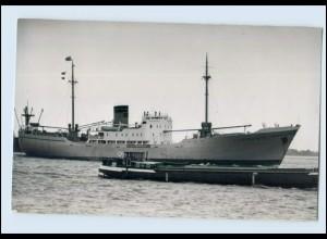 DP118/ Frachter Liebenstein mit Schlepper auf See Schiff Foto AK ca. 1950
