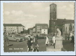 N1333-077./ Jena Zentraler Platz AK ca. 1965