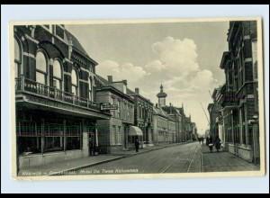 N1765/ Waalwijk Grootestraat Hotel De Twee Kolommen AK 1932 Niederlande