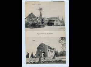 N1739-076./ Poppendorf bei Schkölen AK Schmiede, Gasthaus, Kirche AK ca.1920