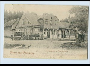 N2158-998./ Gruß aus Thüringen Heuberghaus b. Friedrichroda AK 1904