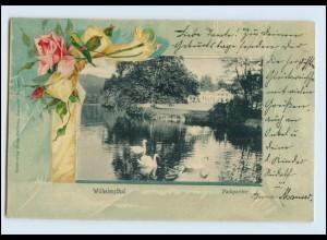 N2092-998./ Eisenach Wilhelmsthal Litho Prägedruck AK 1904