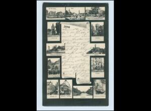 N2175-077./ Jena Schriftrolle Mehrbild AK 1908