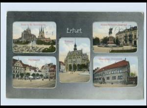 N2181-990./ Erfurt Fischmarkt Ehemalige Universität Rathaus Severikirche AK 1914