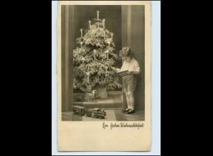 N2589/ Weihnachten Ein frohes Weihnachtsfest Kind Mädchen Spielzeug AK 1939
