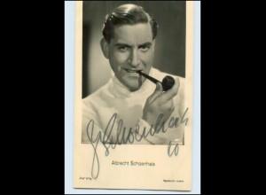N2944/ Albrecht Schoenhals Original Autogramm Ross Foto AK Schauspieler