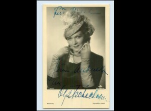 N2956/ Olga Tschechowa Original Autogramm Ross Foto AK Schauspieler