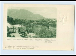 N3014/ Kepkypa Corfou Greece Postcard Embossed Postal Stationery 1900-1905