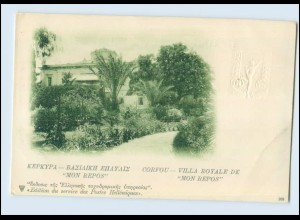 N3029/ Kepkypa Corfou Greece Postcard Embossed Postal Stationery 1900-1905