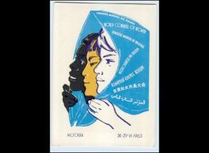 Y1229/ Weltkongress der Frauen in Moskau Rußland AK 1963