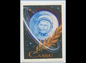 N3689/ Raumfahrt Rußland Kosmonaut Astronaut AK 1962