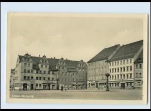 N3480-048./ Torgau Marktplatz Foto AK 1954