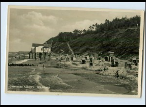 N3560-174./ Ostseebad Koserow Usedom Strand Foto AK ca.1935
