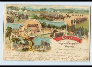 N3606/ Hagenau Haguenau Elsass Alsace Gruß vom Truppenübungsplatz Litho AK 1912