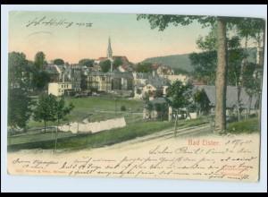 N3628-086./ Bad Elster Handkolorierte Künstlerkarte AK 1905