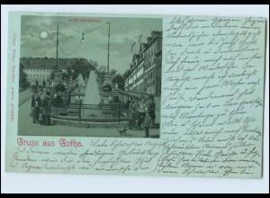 N3630-998./ Gruß aus Gotha Litho Mondschein AK 1905
